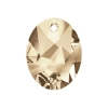 Swarovski Pendant 6911 Kaputt Oval 26mm Golden Shadow Crystal